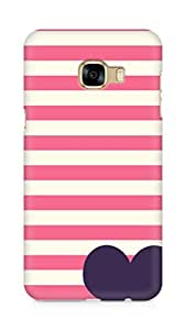 Amez designer printed 3d premium high quality back case cover for Samsung Galaxy C5 (horizontal lines heart)