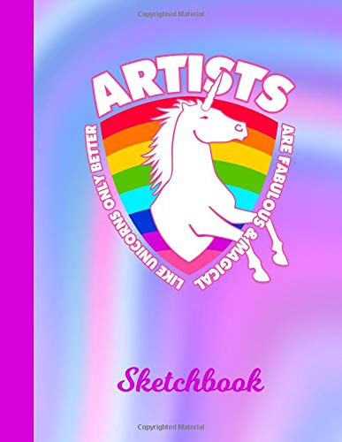 Sketchbook Unicorn Illustrators Scrapbook Workbook