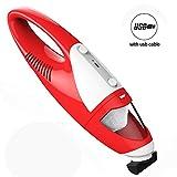 Miniaspirador de mano Evertop, de carga rápida, pequeño pero con fuerte capacidad de aspiración, sin bolsa, color rojo 1300 PA