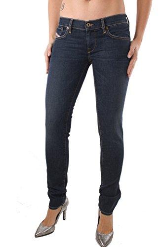 Diesel Grupee Ankle 0RS22 Jeans donna pantaloni slim skinny Blu scuro