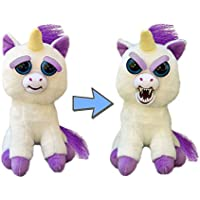 Feisty Pets by William Mark- Glenda Glitterpoop: 21.5cm Plush Stuffed Unicorn that Turns Feisty with a Squeeze!