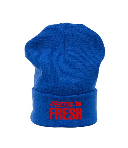 Beanie Mütze Damen Herren SORRY I\'M FRESH Bad Hair Day Easy Meow Swag Wasted Fake HAT HATS, Morefazltd (TM) (royal blue red)