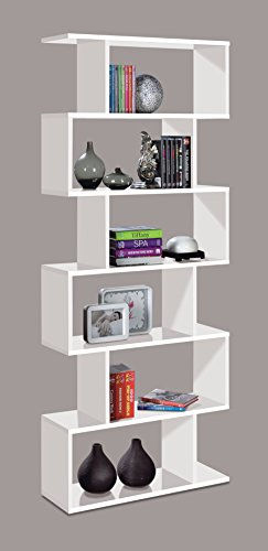 Cheapest Ziggy White Gloss Room Divider Bookcase – by Furniture Factor Special