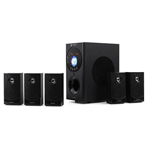 auna Concept 620 Home Theater Sistema Audio 5.1 Potenza Max 250W Radio AM/FM Ingresso AUX Interfaccia Bleutooth Ingressi USB e SD Telecomando Colore