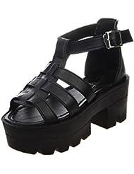 Mine Tom Mujer Estilo Romano Sandalias De Gladiador Sandalias De Verano Zapatos De Plataforma