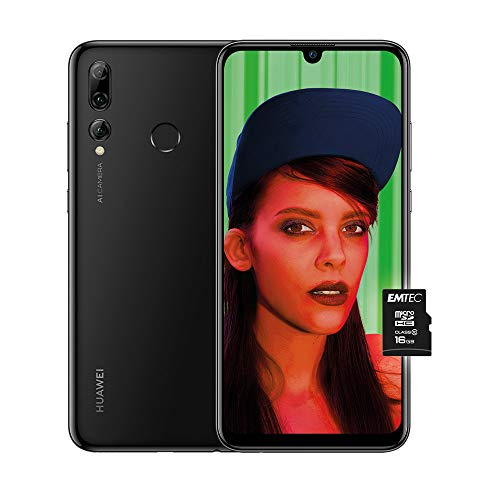 Huawei Psmart+ 2019 (Nero) più Microsdhc 16GB Class 10, Telefono con 64 GB, Display 6.21