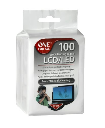 one-for-all-sv8405-scratch-free-wet-cleaning-wipes-for-lcd-led-tv