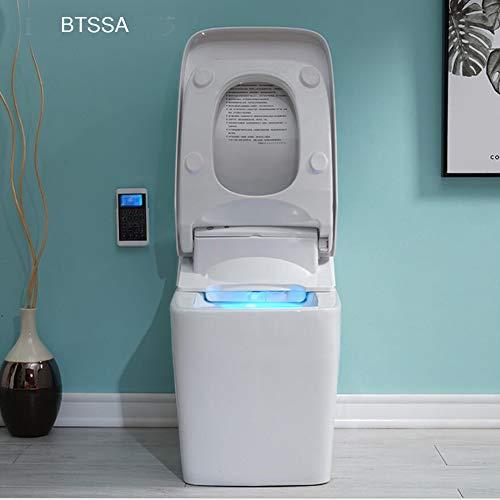 BTSSA Intelligente Fernbedienung Toilette WC Spülrandlos Toilette inkl WC Sitz Automatische Induktion Schaumspülung (Automatische Toiletten)