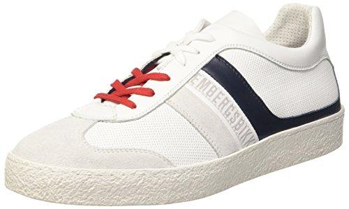 Bikkembergs Ris-Er 842, Sneaker a Collo Basso Uomo Bianco (White/Blue)