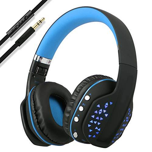 ETbotu Wireless Pro Gaming Headset für Xbox One PC PS4 mit Mikrofon LED
