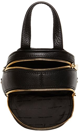 Michael Kors Rhea XS Msgr Backpack, Borsa a Zainetto Donna, Nero (Black), 8x22x16 Centimeters (W x H x L)