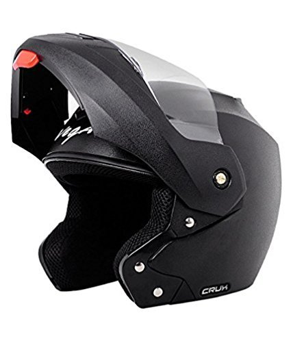 Vega Crux CRX BM Flip-up Helmet Clear Visor (Black, Medium)