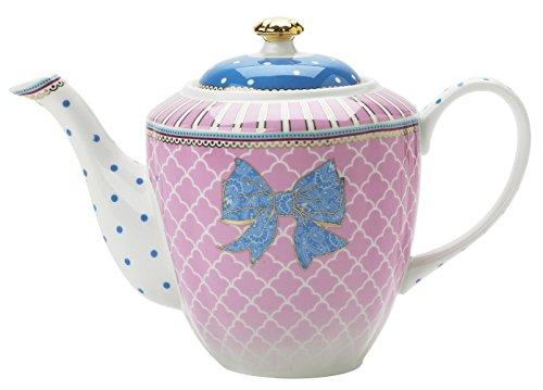 Lisbeth Dahl Bowie Teekanne/ Kaffeekanne aus Porzellan im Shabby Granny Style. Teebereiter, Kanne,...