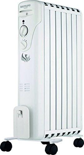 Bastilipo FÉNIX-1500 Radiador De Aceite Bajo Consumo, 1500 W, Acero, Blanco