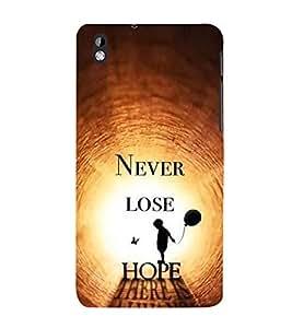 PrintVisa Motivation Quote 3D Hard Polycarbonate Designer Back Case Cover for HTC Desire 816 :: HTC Desire 816 Dual Sim :: HTC Desire 816G Dual Sim