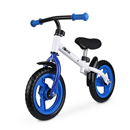 GOSFUN Prima Bici Senza Pedale per Bambini 18 Mesi - 5 Anni Bicicletta per Apprendimento, Sella e Manubrio Regolabile, Capacità Massimo 50 KG, Blu