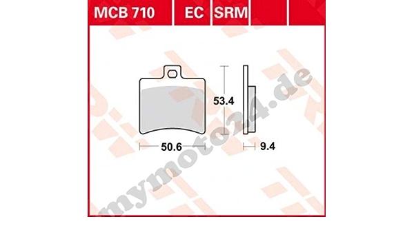 Bremsbelag Trw Lucas Mcb710 Organische Mischung Mit Abe Für Malaguti Spidermax Rs500 Lc Baujahr 2012 Auto