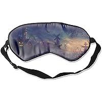 Augenmaske, Halloween, gruselige Vogelscheuchen Augenschutz für Reisen, Nickerchen, Meditation preisvergleich bei billige-tabletten.eu