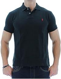 Polo Ralph Lauren ajusté en coton piqué - Polo Black