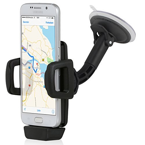Wicked Chili KFZ-Halterung mit Kabelmodul für Samsung S7 / S7 Edge / A3 2016 / A5 2016 / S6 / S6 Edge / S5 / S4 / J5 Handy / Smartphone (Charging Dock, Case kompatibel, Made in Germany)