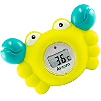 Aycorn Digital Baby Bath and Room Thermometer. Fast and Accurate Water Readings with LED Warning Alarm Ensures Your Child