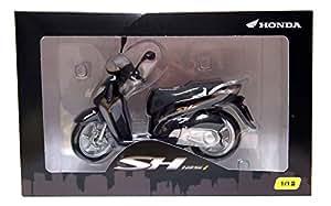HONDA SH125i-Noir 1: 12échelle Vélo/Scooter Moteur ref64a