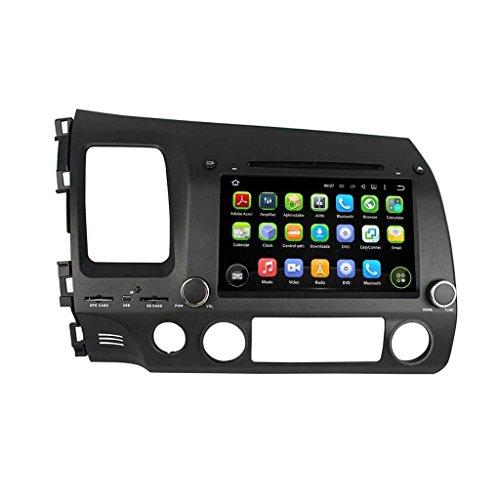 8 Zoll 2 Din Android 5.1.1 Lollipop OS Autoradio für Honda Civic(2006-2012) LHD, kapazitiver Touchscreen mit Quad Core 1.6G Cortex A9 CPU 16G Flash und 1G DDR3 RAM GPS Navi Radio DVD Player 3G/WiFi (Oem-dvd-civic 2010)
