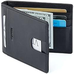 ca2d3354d BESTKEE Clip de Dinero Cuero Cartera - Slim Billetero Tarjetero Para Hombre  De Crédito. Amazon.es