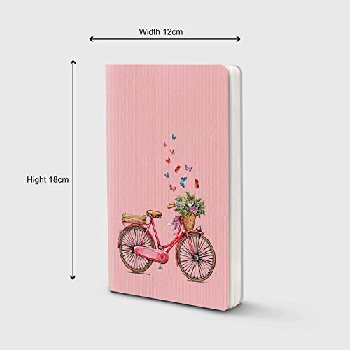 Factor Notes - Cycle (Pink) Ruled B6 Notebook - Premium Stationery, Natural Shade Paper Journal Diary - Size - 120mm X 180mm Image 3