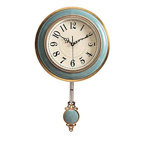 *wanduhren für Wanduhren Batteriebetriebene Nicht Ticking Dekorative Wohnzimmer Decor Stille Schlafzimmer Küche Pendel Vintage Europäischen Retro Metall Keramik Quarzuhr wall clock ( größe : S )