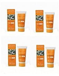 Lepo X-One–Crème solaire visage SPF 50 + 4boîtes de 50ml–Anti-Age, anti-macchie, prévention eritemi.