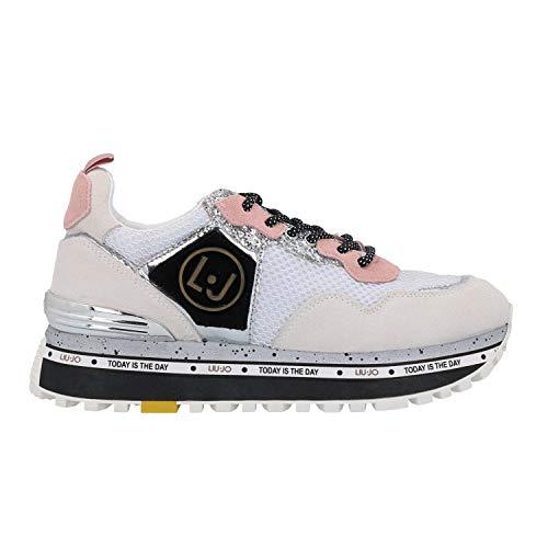 Liu jo shoes maxi alexa-running, scarpe da ginnastica basse donna, bianco (white 01111), 38 eu