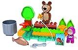 Simba PlayBIG 800057089 - Masha Costruzioni Masha e Orso a Pesca, 30 Pezzi