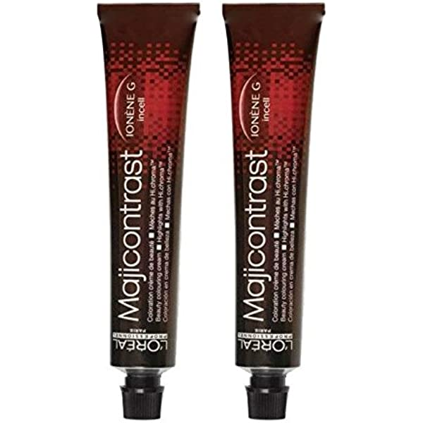 Loreal Majicontrast - Tinte para el cabello (2 x 50 ml), color rojo ...