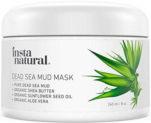 InstaNatural Totes Meer Salz Schlamm Maske - Gesichtsmaske gegen Pickel