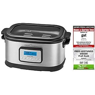 Profi Cook SV-1112 ProfiCook Sous Vide–Schongarer Topf und Vakuum für Küche Kochen bei niedrigen Temperaturen, 8,5l, 520W, grau/schwarz[Energieklasse a], 8.5 liters