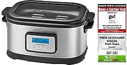 Profi Cook SV-1112 ProfiCook Sous Vide-Schongarer Topf und Vakuum für Küche Kochen bei niedrigen Temperaturen, 8,5l, 520W, grau/schwarz[Energieklasse a], 8.5 liters