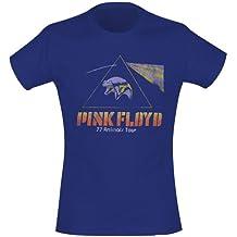 "T-Shirt Femme Bleu Pink Floyd ""Animals Tour Flying Pig"" (Taille M)"