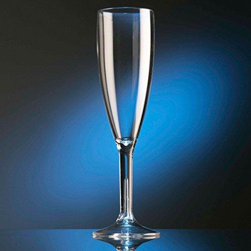 6 Flûtes à champagne incassables 18,7 cl, polycarbonate transparent
