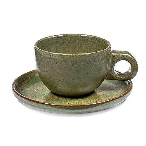 Tasse à caffé avec soucoupe - Camogreen - 13 cl