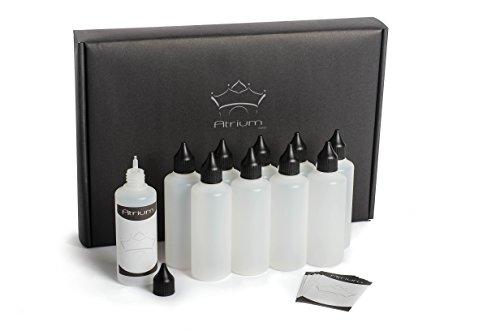 Preisvergleich Produktbild 11 x 100 ml Liquidflaschen | Schadstoff geprüft | Flaschen für E-Liquids | Tropfflaschen zum Mischen von Liquiden wie z.b. Farben, Saucen, Ölen, o.ä. inkl Etiketten