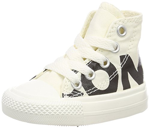 er Chuck Taylor All Star Wordmark High Hohe Sneaker Beige Creme/schwarz, 24 EU ()
