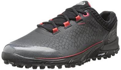2014 Skechers GO BIONIC Lightweight Spikeless Mens Waterproof Golf Shoes Black/Red 6UK
