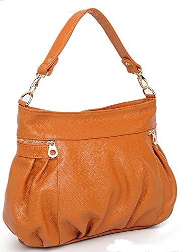 Leder neuer Stil Damen Handtaschen, Hobo-Bags, Schultertaschen, Beutel, Beuteltaschen, Trend-Bags, Velours, Veloursleder, Wildleder, Tasche Braun Keshi