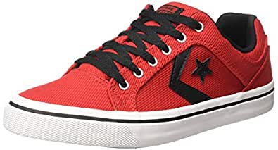 Converse Unisex's Enamel Red/Black/White Sneakers-7 UK/India (40 EU) (8907788161492)