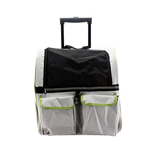 WSJF Pet Carrier Trolley Cane Passeggino Viaggi Zaino Pet Carrier Backpack Luxury Travel Bag Pet Passeggini (Animali Domestici Fino A 40 Libbre) (Colore : B)