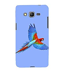 Fiobs Designer Back Case Cover for Samsung Galaxy Core Prime :: Samsung Galaxy Core Prime G360 :: Samsung Galaxy Core Prime Value Edition G361 :: Samsung Galaxy Win 2 Duos Tv G360Bt :: Samsung Galaxy Core Prime Duos (Animal Bird Multi Color Parrot Mitthu Popat)
