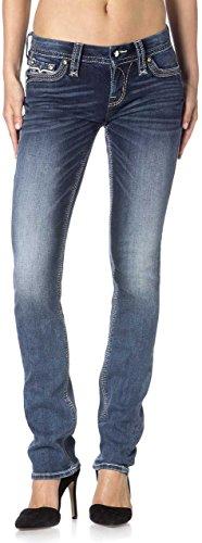 Rock Revival - Damen Hans Gerade geschnittene Jeans Denim