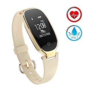 ZKCREATION Fitness Tracker Activity Watch and Heart Rate Monitor Waterproof Touch Screen Smart Bracelet for Women Men Kids with Sleep Monitor Pedometer Step Calorie Counter for Android and iOS