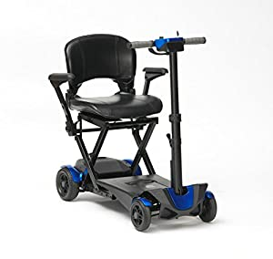 Drive DeVilbiss 4 Wheel Auto Folding Scooter –Lightweight Folding Power Scooter – 4 Wheel Motorized Scooter – Mobility Scooter for Adults